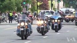 百万辆摩托车聚集华盛顿 关注军人对国家的贡献