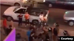 تصویری از یک فیلم منتسب به اعتراضات پنجشنبه شب خوزستان