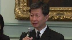 日本海上幕僚长武居智久澄清南中国海巡航讲话原声视频