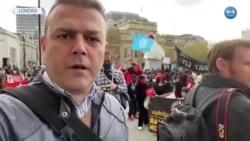 İngiltere'de Myanmar Protestosu
