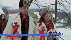 یک عروسی سنتی در غرب اوکراین با قاطرسواری
