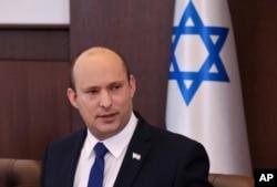 FILE - Israeli Prime Minister Naftali Bennett speaks in Jerusalem, June 20, 2021.