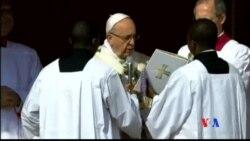 2016-03-27 美國之音視頻新聞: 教宗在梵蒂岡主持復活節彌撒