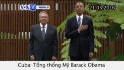 Tổng thống Mỹ bắt đầu chuyến thăm Cuba (VOA60)
