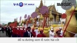 Người Campuchia đổ ra đường xem lễ rước hài cốt của cựu hoàng (VOA60)