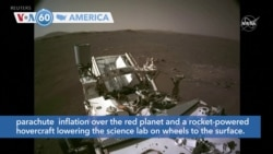 VOA60 Ameerikaa- NASA scientists have unveiled first-of-a-kind video of last week's Mars rover landing
