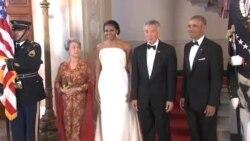 ضیافت شام کاخ سفید برای نخست وزیر سنگاپور