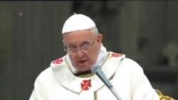 教宗方濟各在梵蒂岡主持聖誕夜彌撒