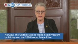 VOA60 Addunyaa - The UN World Food Program won the 2020 Nobel Peace Prize for its efforts to combat hunger