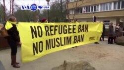 Manchetes Americanas 20 Fevereiro: Manifestações contra Trump em Bruxelas