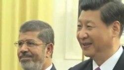 埃及总统穆尔西会晤中国副主席习近平