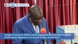 VOA60 Afrikaa - Congo President Appears Poised to Win a Fourth Term