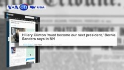 Ông Bernie Sanders công khai ủng hộ bà Hillary Clinton (VOA60)