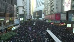 """香港""""國際人權日""""大遊行 民陣稱80萬人上街 (粵語)"""