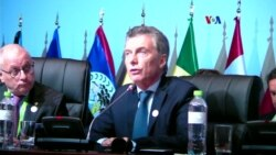 "Macri: ""Argentina llama al diálogo internacional"""
