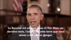 Message du president Barack Obama au peuple du Burundi