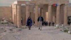 Obama visita la Acrópolis
