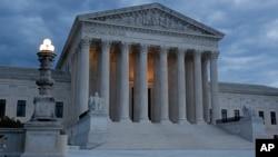 Cour suprême des Etats-Unis au Capitol à Washington, 3 mai 2020. (Photo AP)