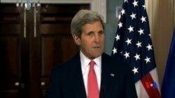 2014-05-07 美國之音視頻新聞: 克里:更多美國制裁將沉重打擊俄國經濟