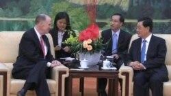 美國家安全顧問多尼隆與胡錦濤會談
