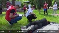 Shkodër, Vullnetarët e Kryqit të Kuq përgatiten për dhënien e ndihmës së parë
