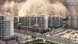 Çin'de Dev Kum Fırtınası