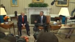 Obama, Trump Exchange Pleasantries After Bitter Presidential Election Campaign