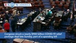 VOA60 Ameerikaa - Congress struck a nearly $900 billion COVID-19 relief package deal late Sunday