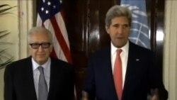 克里与联合国特使呼吁尽速召开叙利亚和平谈判