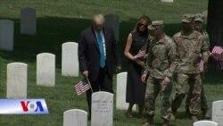 Lễ Chiến sĩ Trận vong: Tổng thống Trump viếng Nghĩa trang Quốc gia