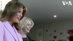 Melania Trump célèbre la Saint-Valentin avec des enfants à l'hôpital