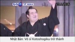 Nhật Bản có quán quân sumo đầu tiên trong 10 năm (VOA60)
