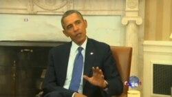 奥巴马谴责俄罗斯入侵乌克兰,扬言采取制裁行动