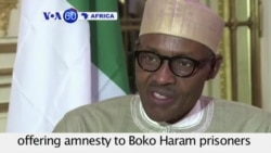 VOA60 Africa - Nigerian Government might consider amnesty to Boko Haram prisoners if they return Chibok girls - September 16, 2015