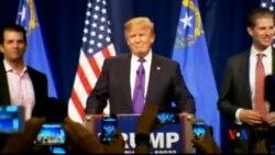 2016-02-24 美國之音視頻新聞: 川普在內華達共和黨初選中大勝