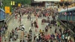 Prodemócratas marchan en Hong Kong