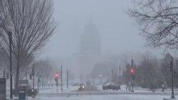 Washington'da Kar Fırtınası