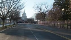 华盛顿举行总统就职典礼 城市氛围平静