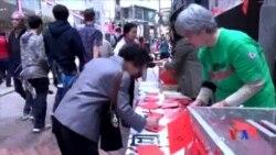 2016-01-31 美國之音視頻新聞: 香港團體手寫新年祝福贈中國維權人士