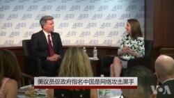 美议员促政府指名中国是网络攻击黑手