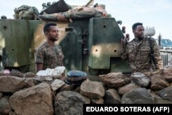 Wanajeshi wa Ethiopia wakiwa katika eneo la vita Tigray