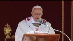 2013-03-19 美國之音視頻新聞: 教宗方濟呼籲教會保護弱小