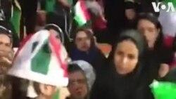 Իրան. Ոստիկանները փորձում են ֆուտբոլի կին երկրպագուներին հեռացնել մարզադաշտից