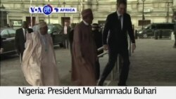 VOA60 Africa- President Muhammadu Buhari attends the Syria Donor Conference