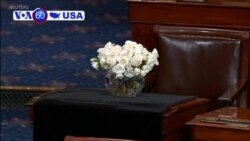 VOA60 America - Senate colleagues in Washington pay their formal respects to John McCain