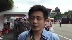 """2017台湾同性恋游行总召集人小白表示,今年的主要诉求是落实""""性别平等教育""""。"""