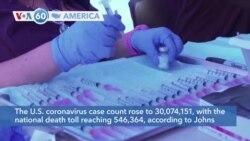 VOA60 Ameerikaa - The U.S. coronavirus case count rose to 30,074,151