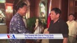 Ông Duterte dẹp tranh chấp sang một bên khi đi TQ