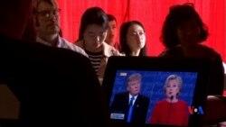 2016-09-27 美國之音視頻新聞: 中國民間對克林頓-川普辯論初步反應