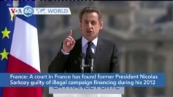 VOA60 Addunyaa - Court Convicts Former French Leader Sarkozy in Campaign Finance Case